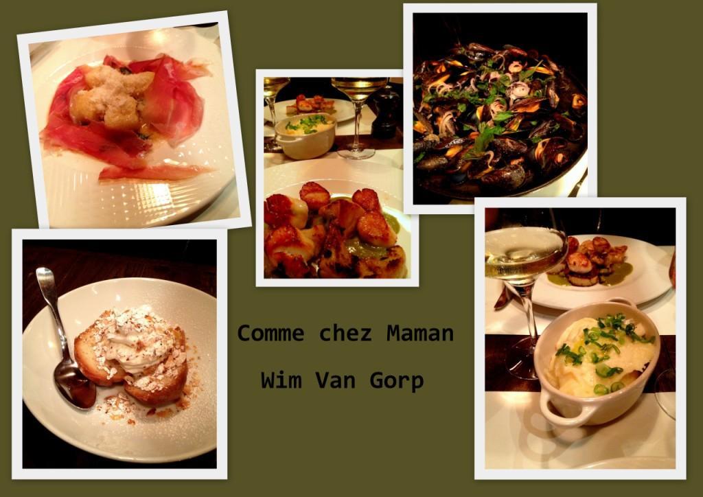 quelques plats de Wim Van Gorp