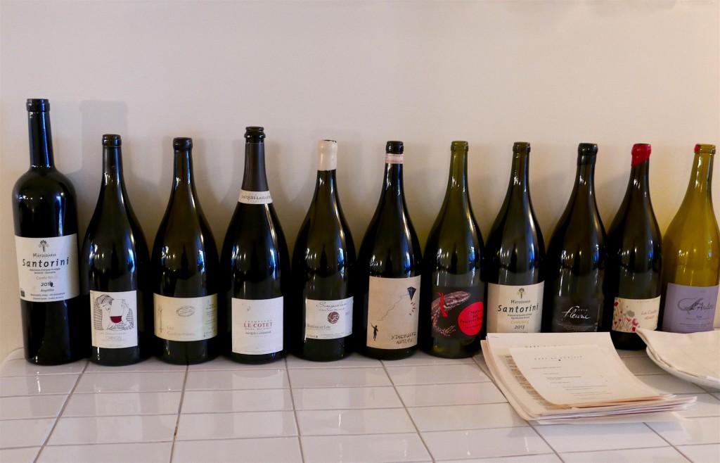 Bouteilles de vin au verre chez Gare au Gorille