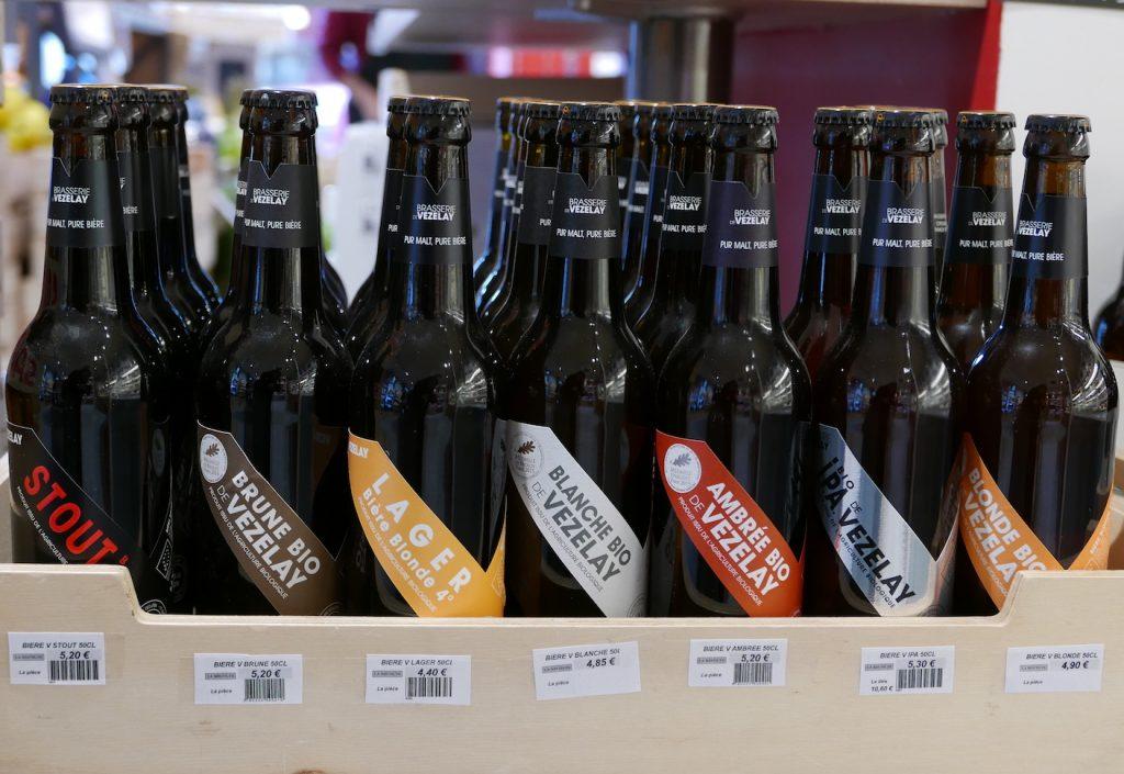 Différentes bières artisanales à La Récolte