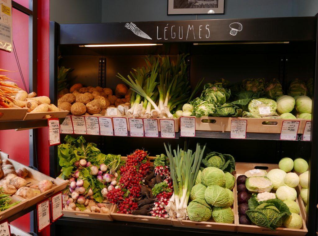 Radis choux céleris legumes à La Récolte