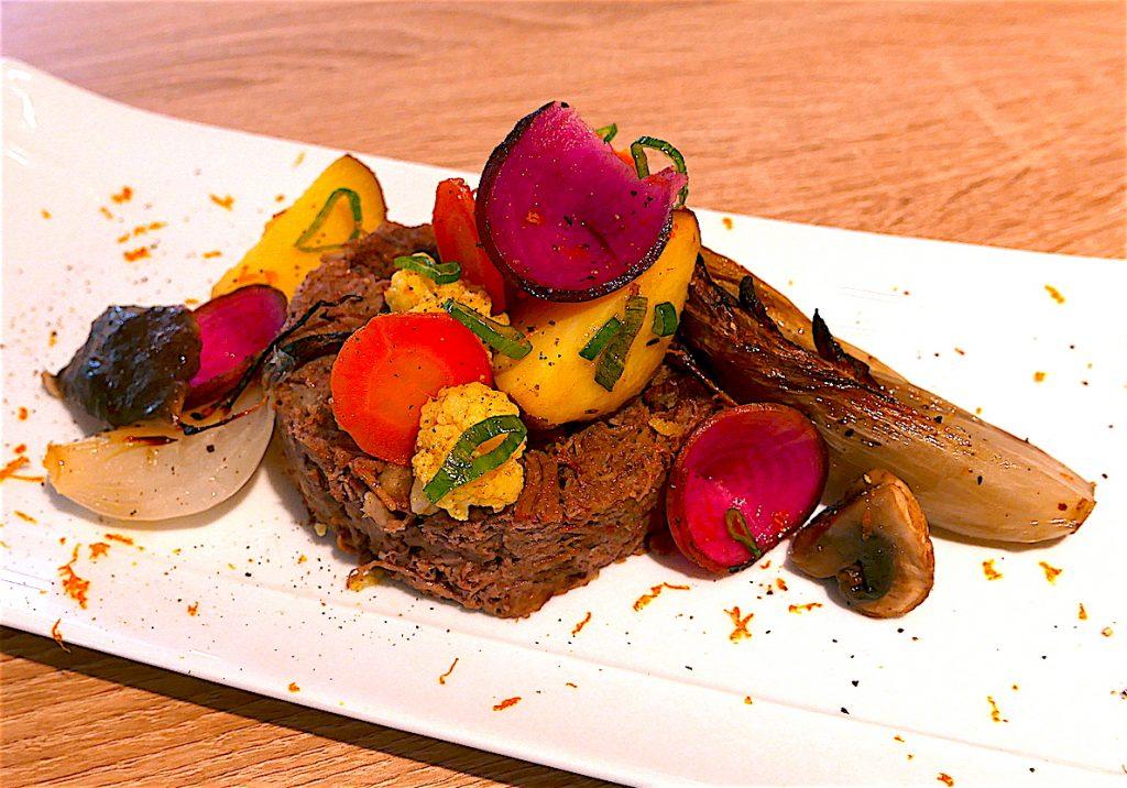 Un plat préparé dans la cuisine de La Récolte