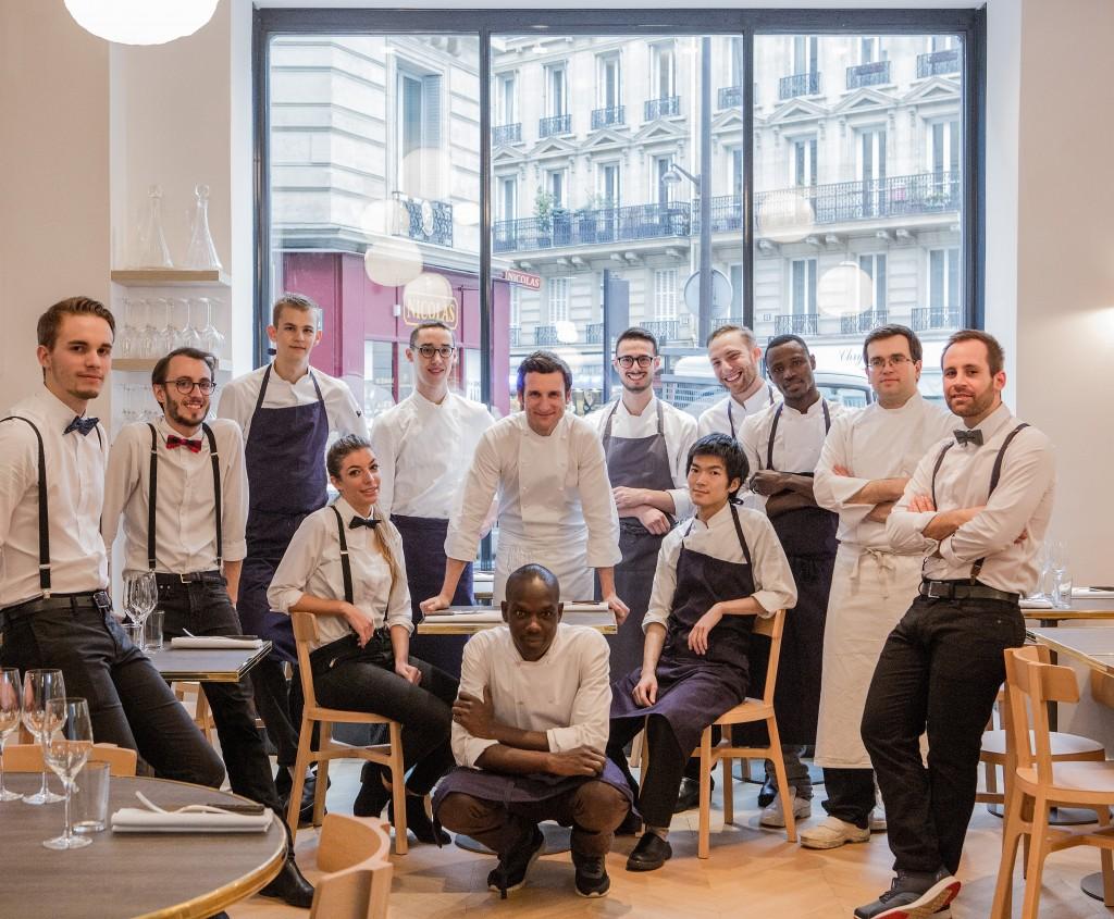 L'équipe du restaurant Papillon autour du chef Christophe Saintagne