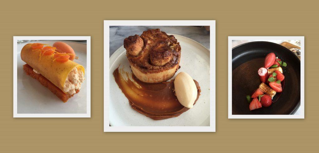 Desserts chez Coretta dont la fameuse brioche