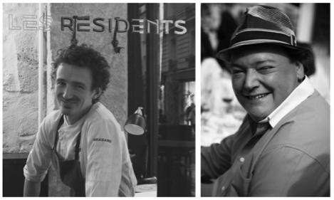 Portrait des chefs Mathieu Moity et Alexandre Mathieu