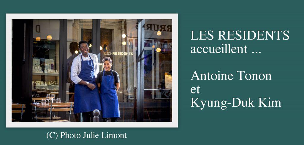 Les Résidents accueillent Antoine Tonon et Kyung-Duk Kim