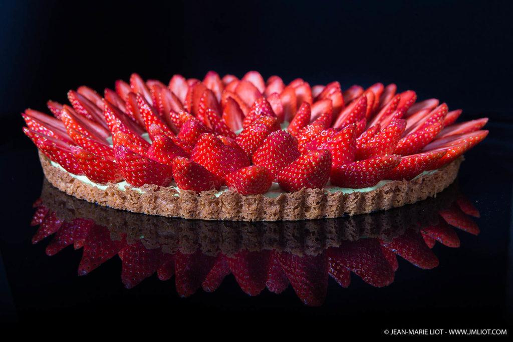 Belle tarte aux fraises JM Liot