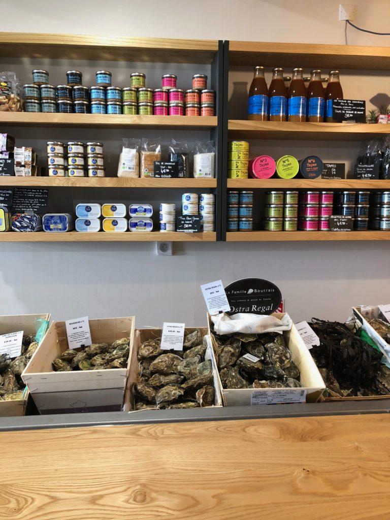 huîtres et jolis produits chez Eulalie
