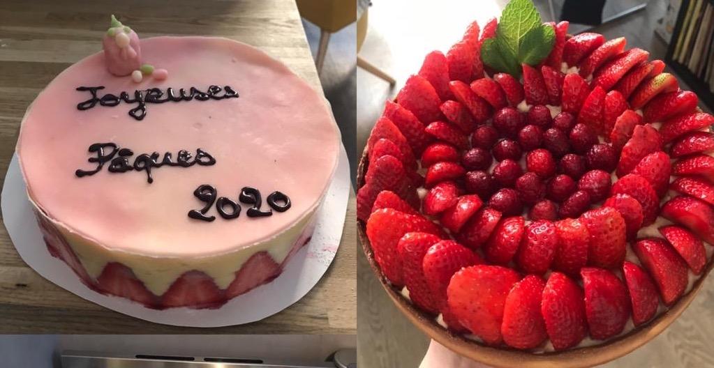 Fraisier et tarte aux fraises
